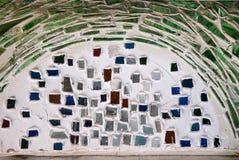 Ornement décoratif de mur de mosaïque Photo libre de droits
