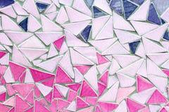 Ornement décoratif de mur de mosaïque de tuile cassée en céramique Images stock