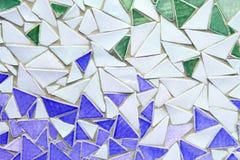 Ornement décoratif de mur de mosaïque de tuile cassée en céramique Photo stock