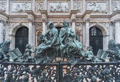 Ornement décoratif de porte en métal Images libres de droits