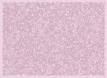 Ornement décoratif des lignes onduleuses sur un fond rose illustration stock