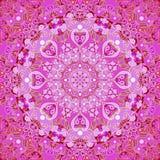 Ornement décoratif sans couture rond rose Photos stock