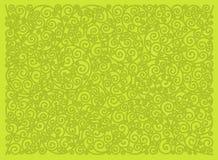 Ornement décoratif sur un fond jaune illustration de vecteur