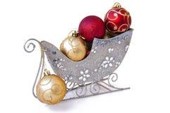 Ornement d'arbre de Noël dans l'étrier Images stock