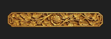 Ornement d'or de Balinese Photographie stock libre de droits