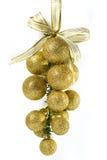 Ornement d'or de Noël photo stock