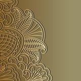 Ornement d'or de vecteur. illustration de vecteur