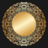Ornement d'or de vecteur. illustration libre de droits