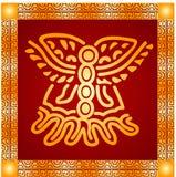 Ornement d'or des Indiens d'Amerique, de l'Aztèque et du Maya Photo stock
