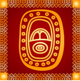 Ornement d'or des Indiens d'Amerique, de l'Aztèque et du Maya Photos libres de droits