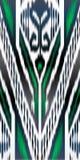 Ornement d'ikat de Khan Atlas Photo libre de droits