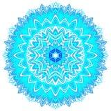 Ornement d'imagination fait dans le style kaléïdoscopique Illustration stylisée de flocon de neige Image libre de droits
