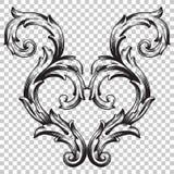 Ornement dans le style baroque Photographie stock