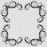 Ornement dans le style baroque Images libres de droits