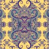 Ornement de Boho, texture Floral ornemental ethnique Modèle sans couture naturel d'usine florale abstraite Éléments décoratifs de Illustration de Vecteur
