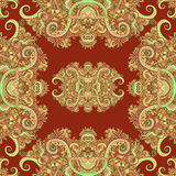 Ornement de Boho, texture Modèle sans couture naturel d'usine florale abstraite Éléments décoratifs de cru Floral ornemental ethn Illustration Stock