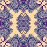 Ornement de Boho, texture Modèle sans couture naturel d'usine florale abstraite Illustration Stock