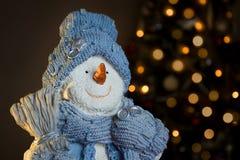 Ornement de bonhomme de neige Photographie stock libre de droits