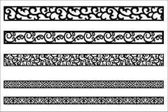 Ornement de bord pour la conception de cadre illustration de vecteur