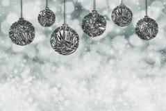 Ornement de boule d'arbre de Noël, l'espace de copie, Gray Background illustration stock