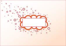 Ornement de bulles Image libre de droits
