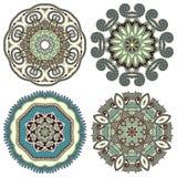 Ornement de cercle, collection ronde ornementale de dentelle Photo libre de droits