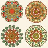 Ornement de cercle, collection ronde ornementale de dentelle Images libres de droits