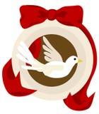 Ornement de colombe de Noël Photos stock