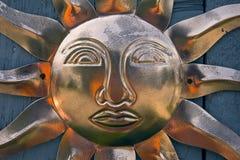 Ornement de cuivre de mur de Sun Photographie stock libre de droits