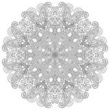 Ornement de dentelle de cercle, géométrique ornemental rond Photos stock