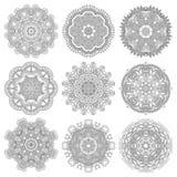 Ornement de dentelle de cercle, géométrique ornemental rond Image stock
