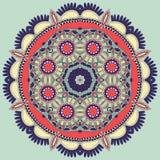 Ornement de dentelle de cercle, géométrique ornemental rond Photos libres de droits