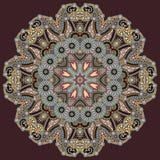 Ornement de dentelle de cercle, géométrique ornemental rond Photographie stock libre de droits