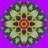 Ornement de dentelle de cercle, géométrique ornemental rond Images libres de droits