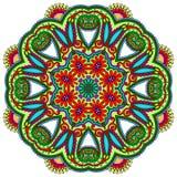 Ornement de dentelle de cercle, géométrique ornemental rond Image libre de droits