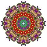 Ornement de dentelle de cercle, géométrique ornemental rond Photo libre de droits