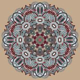 Ornement de dentelle de cercle, géométrique ornemental rond Photographie stock