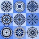 Ornement de dentelle de cercle, géométrique ornemental rond Images stock