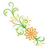 Ornement de fleur d'abrégé sur vecteur de griffonnage Photo libre de droits