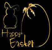 Ornement de lapin de fond de Pâques Photos stock