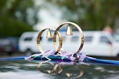 Ornement de mariage par des boucles Photographie stock libre de droits