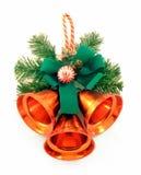 Ornement de Noël avec des cloches de main Photographie stock