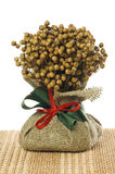 Ornement de Noël de lin textile Photographie stock
