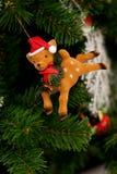 Ornement de Noël de renne image libre de droits