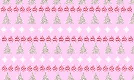 Ornement de Noël et de nouvelle année sur le fond rose Photographie stock