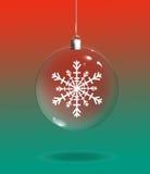 Ornement de Noël sur le fond rouge et vert Images libres de droits