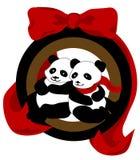 Ornement de panda de Noël Images stock