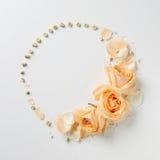 Ornement des fleurs dans le jour du ` s de Valentine Images stock