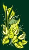 Ornement des lis et des feuilles Illustration de vecteur des zantedeschias illustration de vecteur