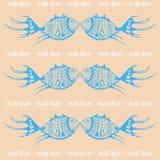Ornement des poissons bleus stylisés. Image libre de droits